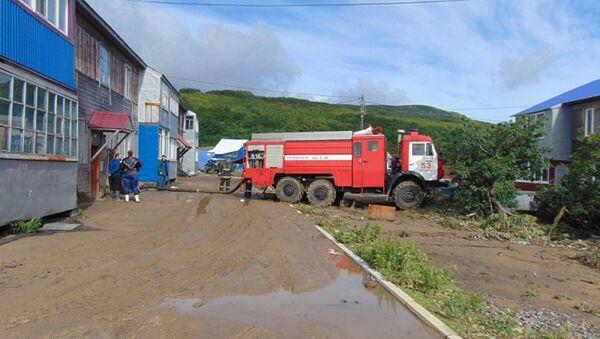 Ликвидация последствий циклона Санву в Северо-Курильском районе