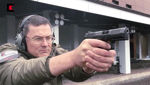 Пистолет ПЛ-15К. Кадр из видеопрезентации концерна Калашников