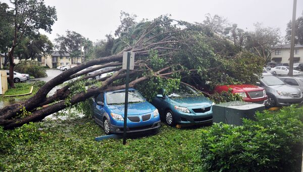 Последствия урагана Ирма в городе Майами, штат Флорида. 10 сентября 2017
