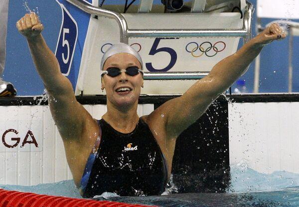 Итальянская пловчиха Федерика Пеллегрини установила новый мировой рекорд на дистанции 200 метров вольным стилем