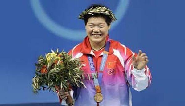 Китайская штангистка Лю Чуньхун