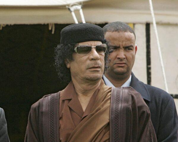 Ливийский лидер Муамар Каддафи