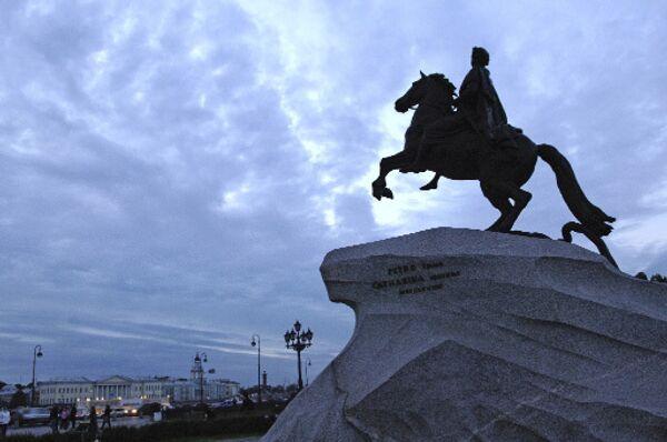 Памятник Петру I Медный всадник. Архив