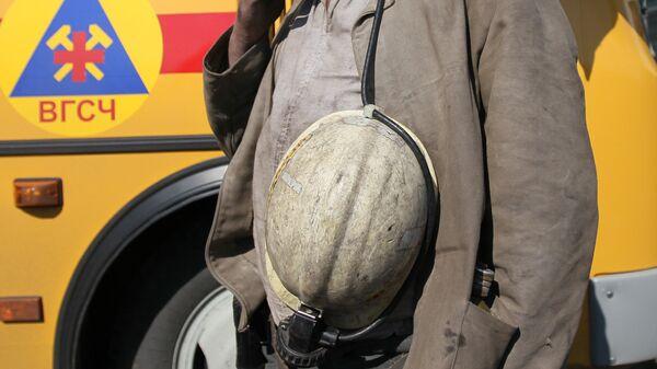 Спасатель отряда военизированной горно-спасательной части