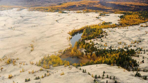 Вид на Чарские пески в Чарской долине Забайкальского края