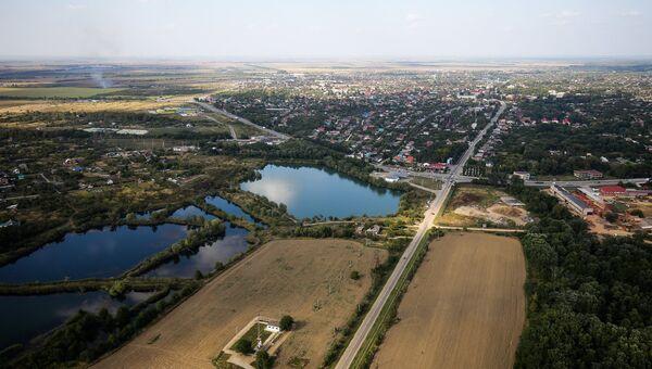 Вид на один из поселков Краснодарского края. Архивное фото