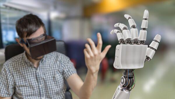 Управление бионической рукой при помощи гарнитуры виртуальной реальности