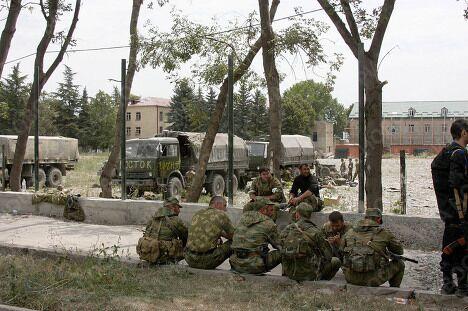 Чеченский батальон Восток в Южной Осетии