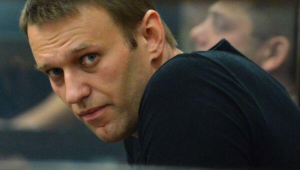 Алексей Навальный на заседании суда об изменении меры пресечения. Архивное фото