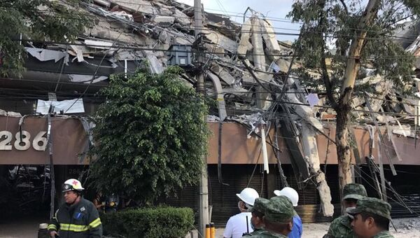 Последствия землетрясения в Мексике. Архивное фото