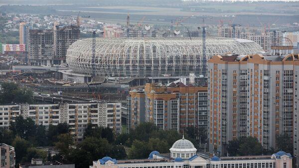Строительство стадиона Мордовия Арена в Саранске