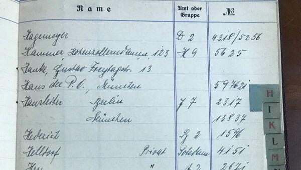 Телефонная книга, предположительно принадлежавшая Адольфу Гитлеру