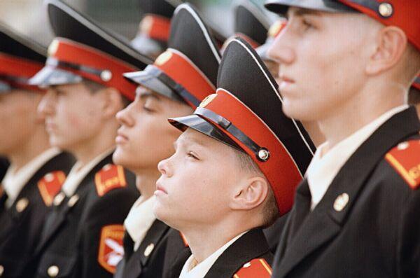 Воспитанники Московского суворовского военного училища. Архивное фото