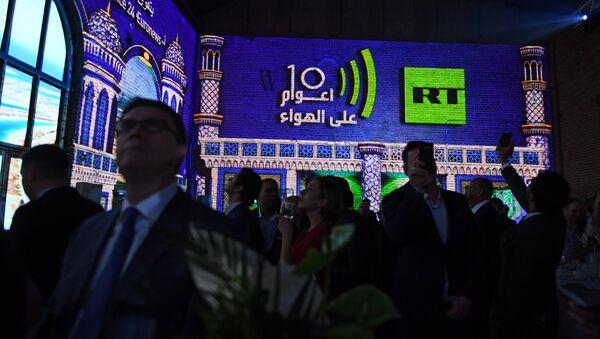 Гости на вечере, посвященном десятилетию вещания канала RT Arabic