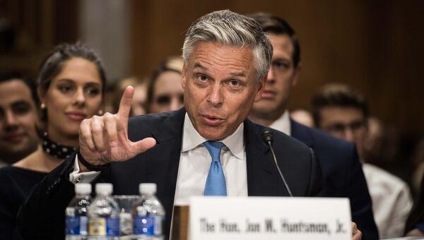 Джон Хантсман баллотируется на пост посла США в РФ на заседании Сената. Вашингтон, США. 19 сентября 2017
