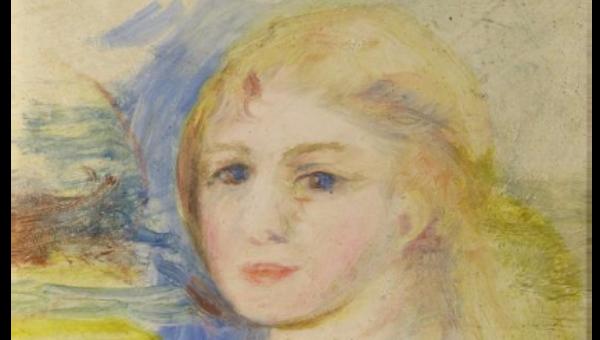 Картина Ренуара Портрет молодой девушки со светлыми волосами