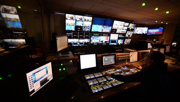 В эфирной аппаратной первой студии программы Вести в здании ВГТРК. Архивное фото