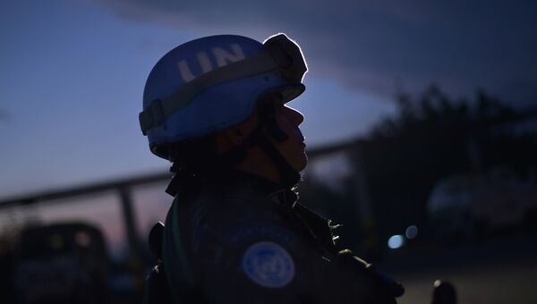 Миротворец ООН из Бразилии в Гаити. Архивное фото
