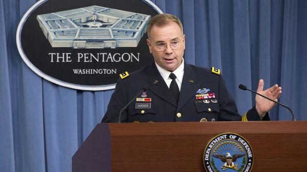 Командующий войсками США в Европе Бен Ходжес на пресс-конференции в Пентагоне