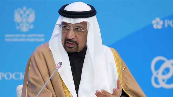 Министр энергетики Саудовской Аравии Халид аль-Фалих на форуме Российская энергетическая неделя