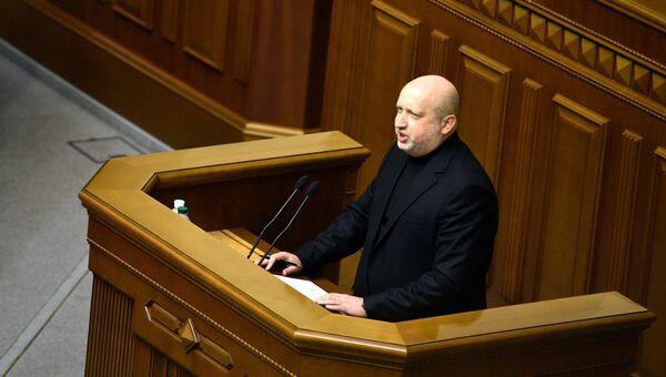 Секретарь совета нацбезопасности и обороны Александр Турчинов. Архивное фото