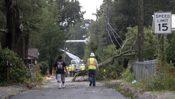 Город Билокси в Миссисипи после урагана Нэйт. 8 октября 2017