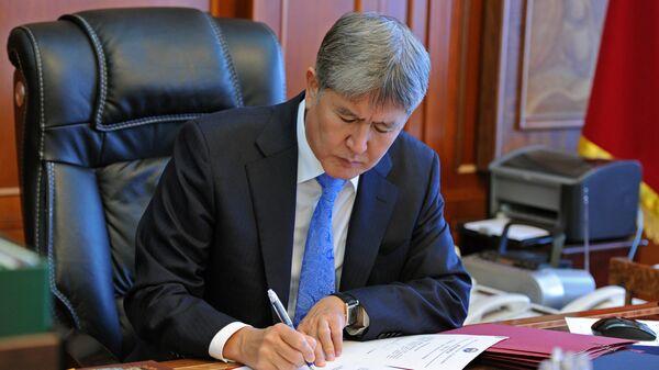 Экс-президент Кыргызской Республики Алмазбек Атамбаев