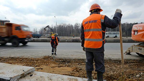 Работы по реконструкции Дмитровского шоссе в Москве