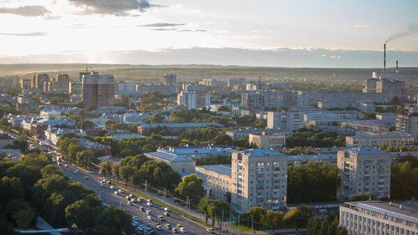 Вид на город Благовещенск