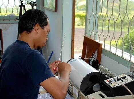 Измерение сейсмической активности земной коры в районе вулкана Анак-Кракатау