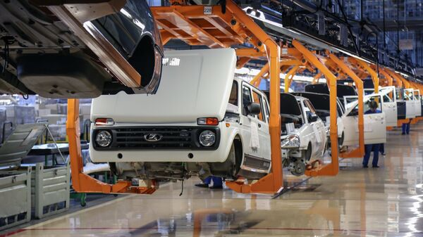 Цех сборки автомобилей Лада Нива, Лада Гранта на заводе ОАО АвтоВАЗ в Тольятти
