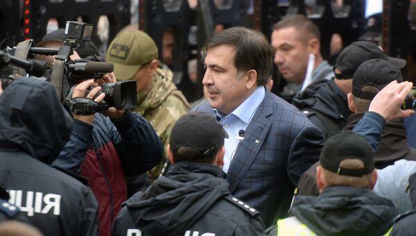 Михаил Саакашвили на акции протеста в Киеве. Архивное фото
