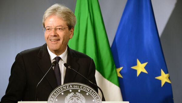 Премьер-министр Италии Паоло Джентилони. Архивное фото