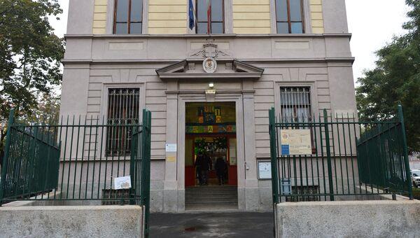 Избирательный участок в Милане, где проходит референдум об автономии Ломбардии. 22 октября 2017