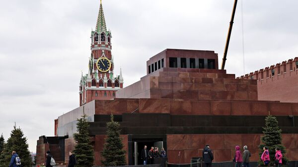 Мавзолей В.И. Ленина на Красной площади. Архивное фото