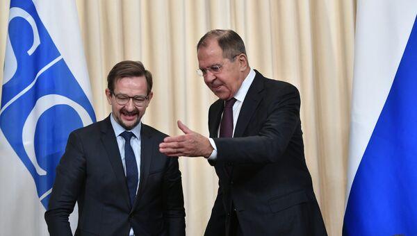 Министр иностранных дел РФ Сергей Лавров и генеральный секретарь ОБСЕ Томас Гремингер. Архивное фото