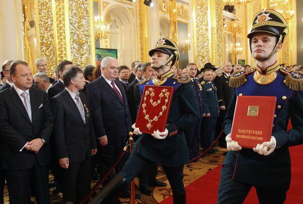 Церемония инаугурации избранного президента РФ Владимира Путина. 7 мая 2012 год