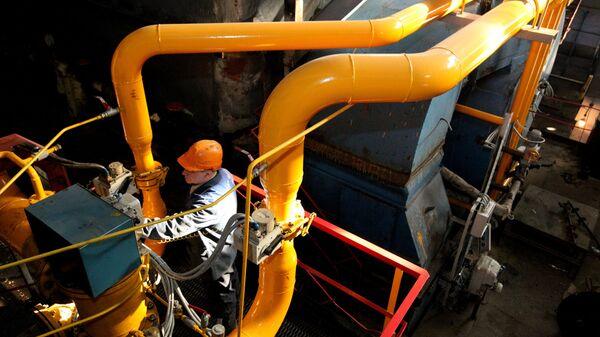 В котельном цехе теплоцентрали Северная города Владивостока, которая переведена на потребление сахалинского природного газа