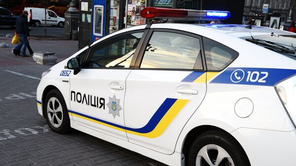 Автомобиль украинской полиции в Киеве. Архивное фото