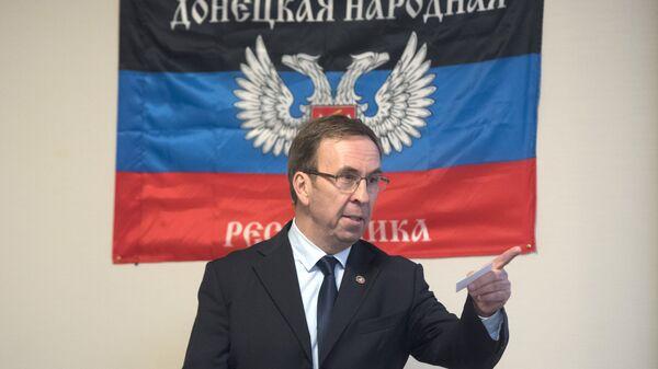 Официальный представитель ДНР во Франции Юбер Файяр