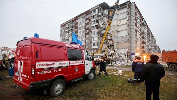 Последствия обрушения жилого дома в Ижевске. Архивное фото