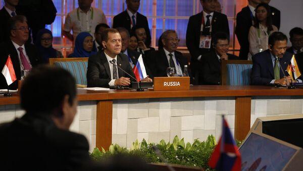 Дмитрий Медведев на заседании 12-го Восточноазиатского саммита. 14 ноября 2017