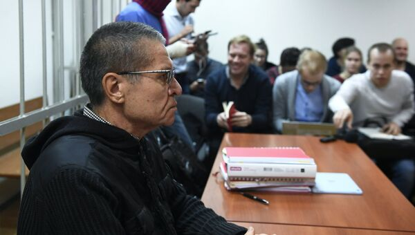 Экс-министр экономического развития Алексей Улюкаев на заседании Замоскворецкого суда. Архивное фото