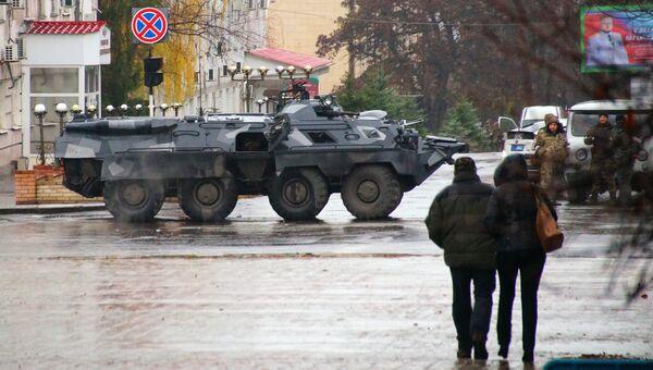 Военная техника в Луганске. 21 ноября 2017