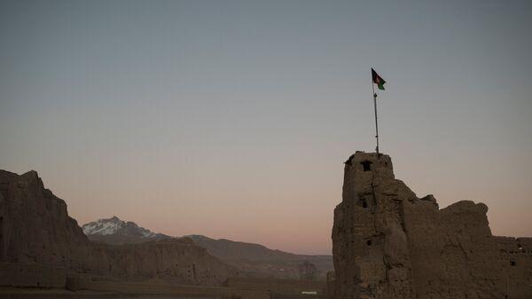Вид на дома в одном из сел в провинции Бамиан в Афганистане