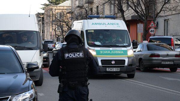 Сотрудник полиции в Тбилиси