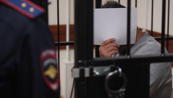 Подозреваемый в перестрелке в деловом центре Москва-Сити Магомед Исмаилов на заседании Пресненского суда Москвы. 22 ноября 2017