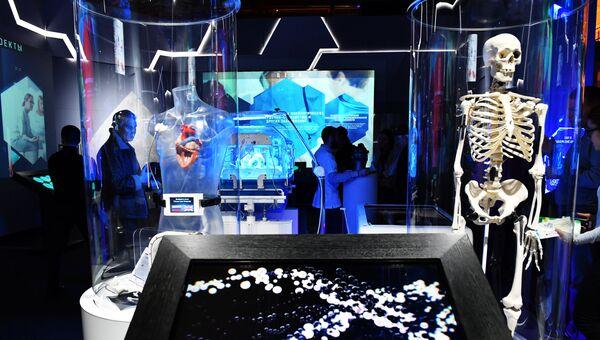 Зал Здоровье выставки Россия, устремленная в будущее. Архивное фото