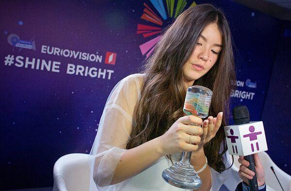 Российская певица Полина Богусевич, победившая в финале конкурса Детское Евровидение - 2017 в Тбилиси. 26 ноября 2017