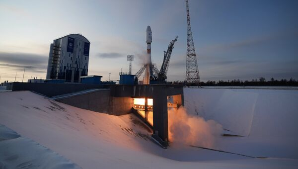 Старт ракеты-носителя Союз-2.1б с космическим аппаратом Метеор №2-1 с космодрома Восточный. 28 ноября 2017